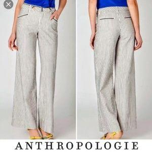 Anthropologie Cartonnier Wideleg Pinstripe Trouser